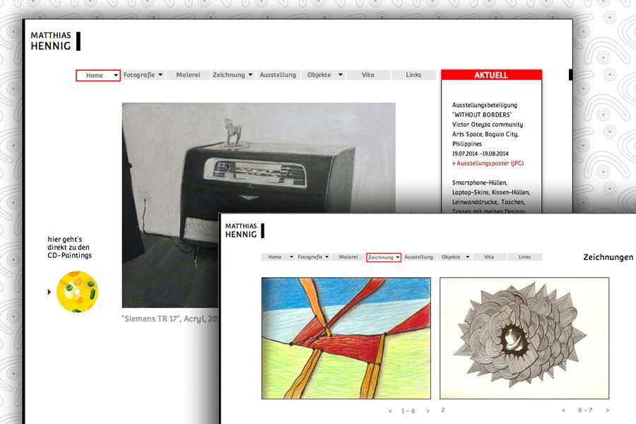 Website Matthias Hennig